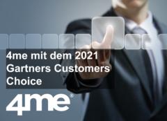 4me receives 2021 Gartner Peer Insights Customers' Choice Distinction