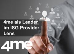 4me wurde von ISG Provider Lens zum Leader ernannt