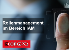 Role management in the area of IAM